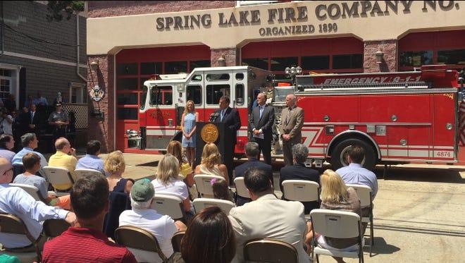 Christie speaks in Spring Lake.