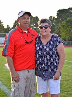 Bethlehem Christian recently hired Bruce Lane as its football coach. He's pictured with his wife, Chris. (Submitted photo).