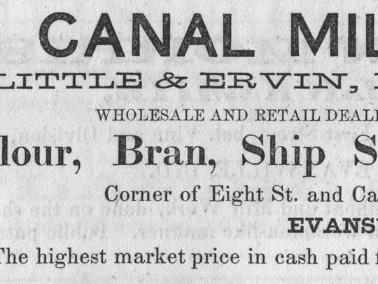 19th century advertisement for a business along the