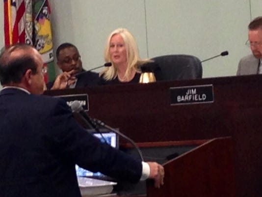 Economic Development Commission official Greg Weiner addresses the Brevard County Commission. DAVE BERMAN/FLORIDA TODAY