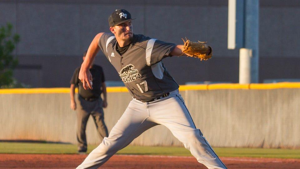 Pine View's Dakota Donovan pitches during Tuesday's