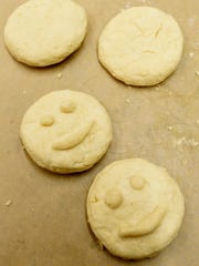 Biscuits with smiles were made during the biscuit-making