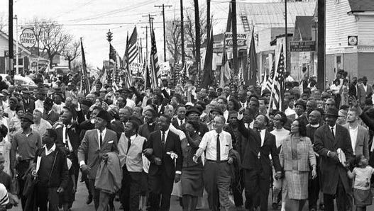 In March 1965, Martin Luther King Jr. led a march of more than 3,000 people from Selma to Montgomery, Alabama, to protest the lack of voting rights for African Americans, leading to the passage of the Voting Rights Act.