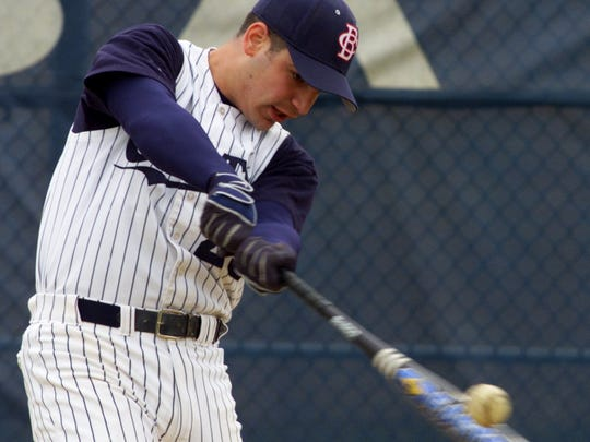 CBA's Anthony Buffone makes contact during the 1999 season. He blasted 23 home runs in four seasons for the Colts.