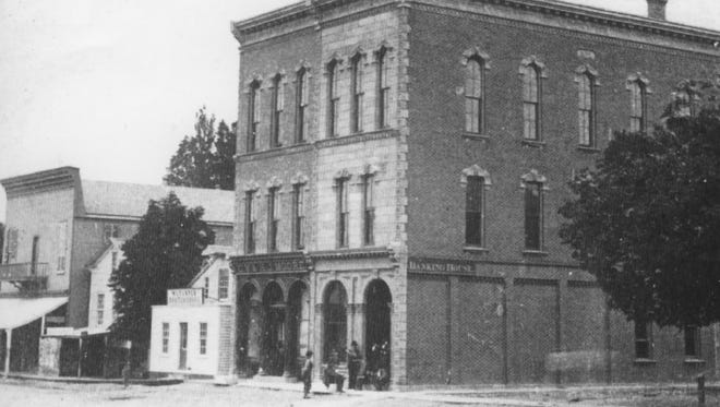 Seen in this 1872 photo, the Moore Building still stands in Victor.