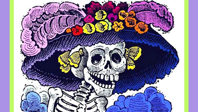Catarina is all dressed up for the Dia de Los Muertos Oct. 28 in Lincoln.
