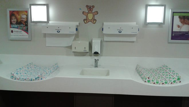 Family rooms in New Zealand provide convenient and comfortable changing stations for moms with young children.