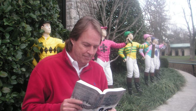 Dick Downey of The Downey Profile - you never know when you'll see him at Keeneland.