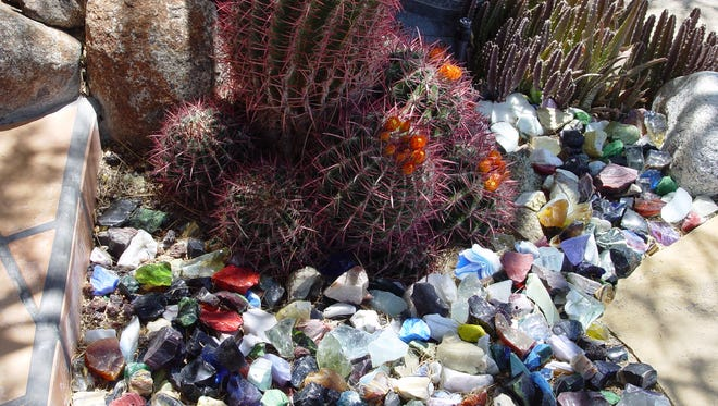 Special features such as slag glass gravel mulch can become a catch all for litter if improperly designed.