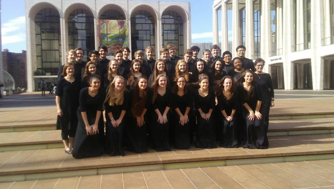 """The Battle Ground Academy Chamber Choir recently performed  in a 25th anniversary concert version of Gershwin's musical comedy """"Crazy for You."""""""