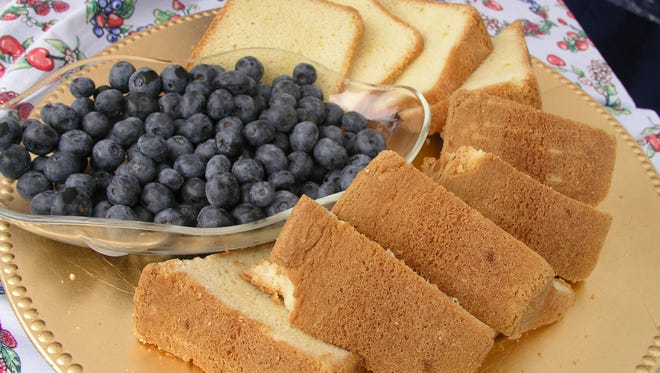 Blueberry shortcake at the Blueberry Festival held at the Chincoteague Center is shown in this photograph from the 2007 festival.