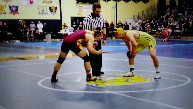 Hartland's Reece Potter made his varsity wrestling debut on Saturday, finishing second in the 171-pound weight class at the West Bloomfield Invitational.