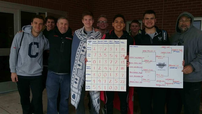 The Clear Fork boys tennis team, led by unbeaten Noah Brown  (far right), won the Mid-Ohio Athletic Conference tournament last week.