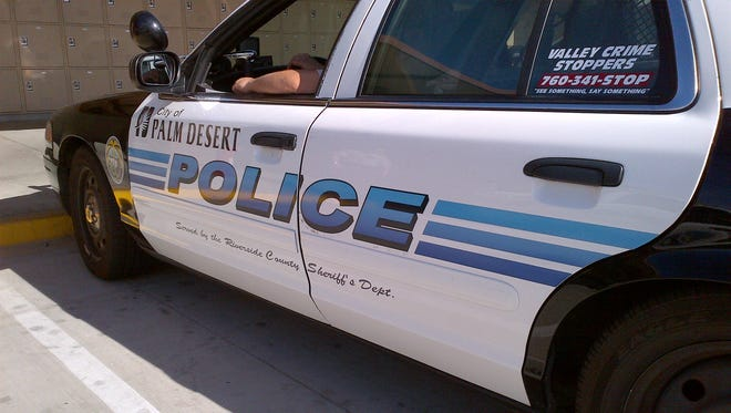 A Palm Desert police car is seen in this undated photo.