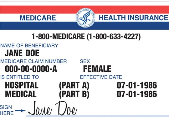 The current Medicare card has Social Security numbers