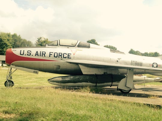Answer Man:  Can you tell me the history of this old fighter jet on display at the Springfield Downtown Airport?