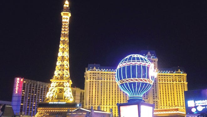 Only in Vegas can you walk from Paris to New York and still make your dinner reservation.