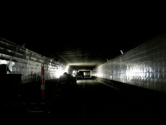 A look inside the Detroit Windsor Tunnel as it remains