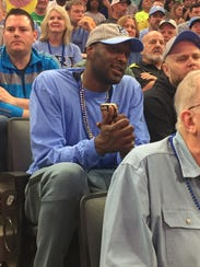 Rhode Island alum Lamar Odom takes in the Ram's Round