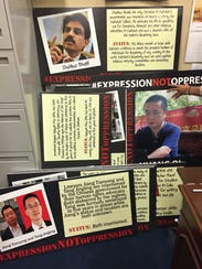 These placards in Sen. Marco Rubio's office are used