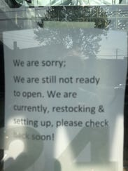 The sign posted at the Mamaroneck Diner Monday. The