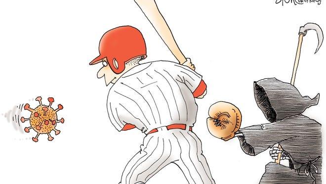 Signe cartoon\rTOON25\rCovid Ball