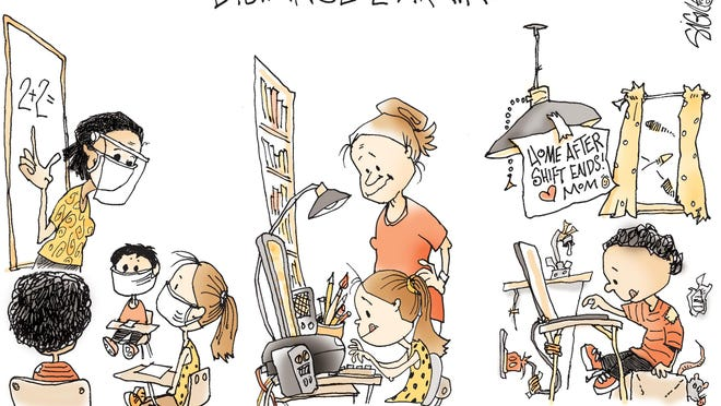 Signe cartoon TOON29 Distance Learning
