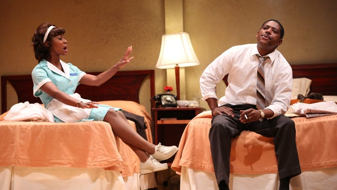 Royce Johnson and Joniece Abbott-Pratt — two talented newcomers to Geva — deliver powerful performances in The Mountaintop.
