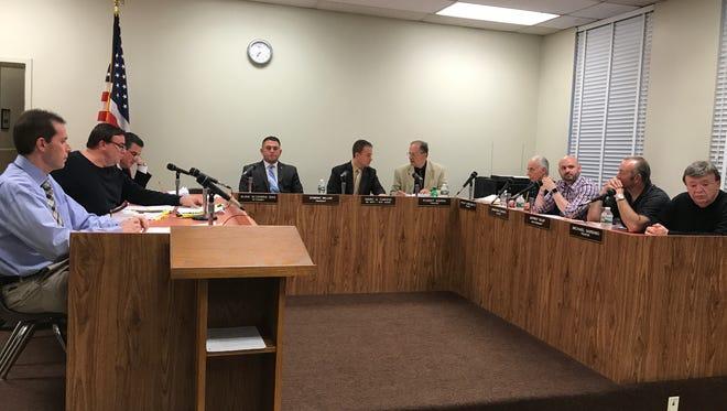 Lodi BOE members at the April 26 meeting.