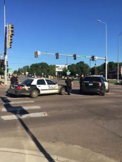 A squad car was involved in a crash at 10th Street and Minnesota Avenue Monday morning.