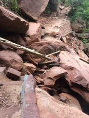Heavy damage in sections of the Emerald Pools trails