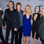 "John Ales, left, John Corbett, Denis Leary, Elaine Hendrix, Elizabeth Gillies and Robert Kelly attend the premiere screenings of FX's ""Sex&Drugs&Rock&Roll"" and ""Married"" at the SVA Theater on Tuesday, July 14, 2015, in New York. (Photo by Charles Sykes/Invision/AP)"