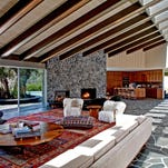 Adam Levine bought the home in Beverly Crest four years ago for $4.83 million and commissioned Los Angeles-based designer Mark Haddawy to renovate the home. Reached by a long gated drive, the single-story home has a midcentury vibe with walls of glass, beamed ceilings and open living spaces. (Lee Manning)