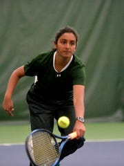 CMR's Gail Parambi plays in the Northern AA Tennis Tournament last Spring at Meadow Lark Country Club.