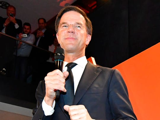 Prime Minister Mark Rutte of the free-market VVD party