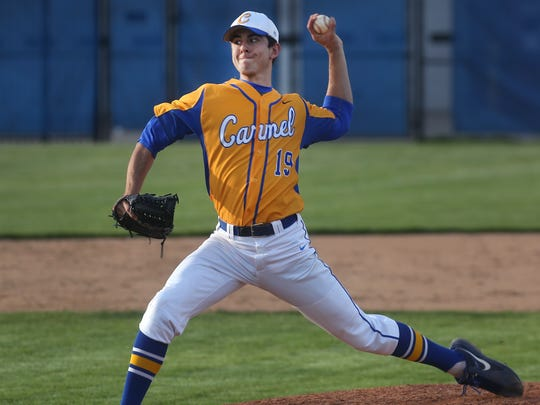 FILE -- Carmel pitcher Tommy Sommer is one of the nation's most highly recruited players.