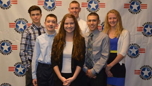The 2015 winners of Operation Homefront's Military Child of the Year visited Washington, D.C., to receive their awards.