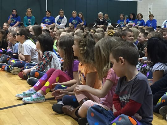Eastview Elementary School students were all smiles and laughs Monday during a performance by author Eric Litwin.