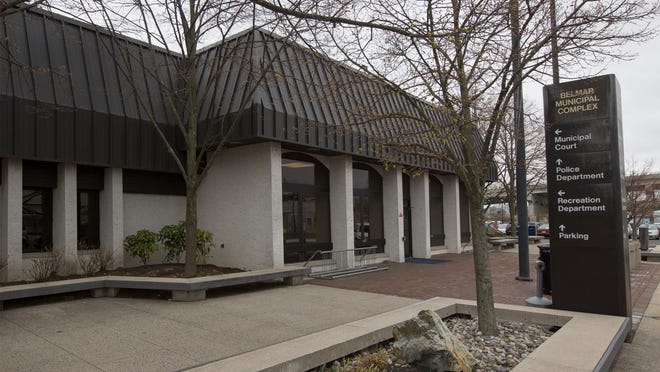 Belmar Municipal Building in Belmar NJ on April 28, 2014.