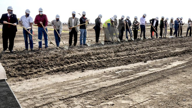 A groundbreaking ceremony was held Thursday for the new Empirical Foods ground beef processing facility at 110 S. Jennie Barker Road. It's expected to begin operations in 2023, bringing about 300 new jobs to the area.