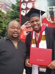 Ben Davis High School teacher Albert Coleman (left)