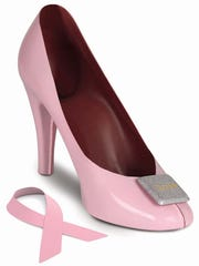 Norman Love Confections milk chocolate high-heel pumps.