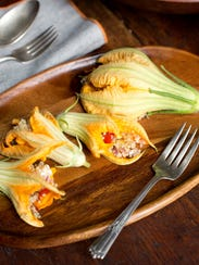 """Find this stuffed squash blossoms recipe in """"Cooking"""