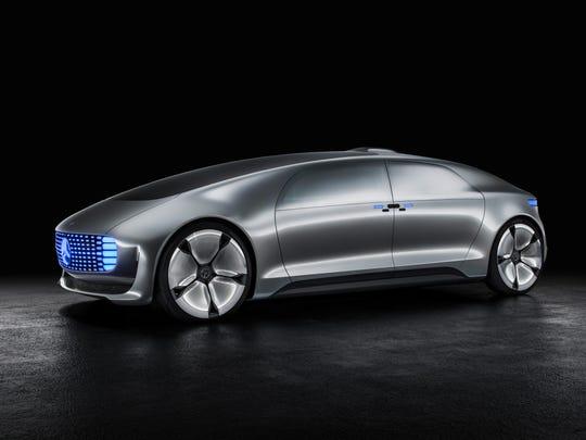 Mercedes explores autonomous-vehicle design with the F015