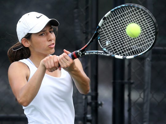 Blackman's Aya Melhem was undefeated in District 7-AAA.