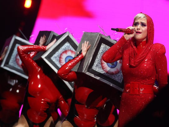 Katy Perry performs at the BMO Harris Bradley Center.