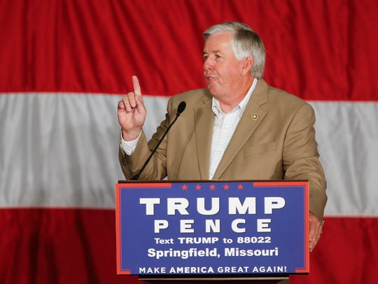 Mike Parson speaks before Republican Vice Presidential