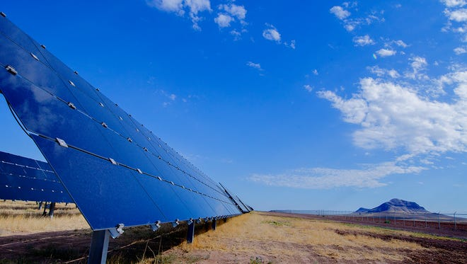Macho Springs Solar facility, located in Luna County, is a 50-megawatt AC ground-mounted single-axis tracking PV system powered by Southern Power. A similar solar field will be installed at Holloman Air Force Base.