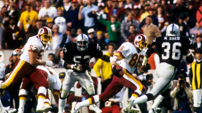 Washington Redskins tight end Clint Didier (No. 86) in Super Bowl XVIII in 1984. (Richard Mackson, USA TODAY Sports)