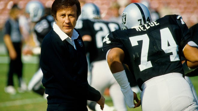Raiders head coach Tom Flores prior to an undated game at Los Angeles Memorial Coliseum. (Richard Mackson-USA TODAY Sports)